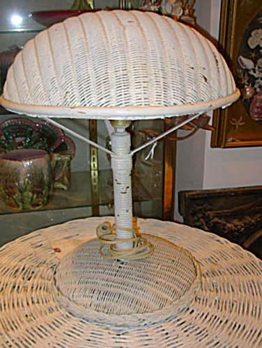 Lamp, Wicker Table Lamp