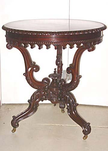 Table:Rosewood Gothic/Rococo Revival Table