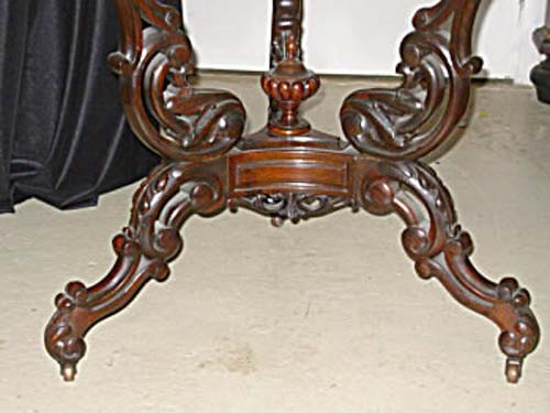 Table:Rococo Rosewood & Marble Top SOLD