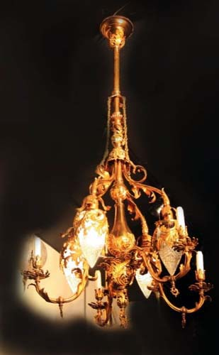 chandelier,Gas/Electric a pr  5611