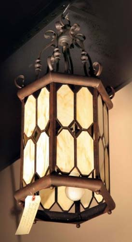 Chandelier, Hall Light, Stained Glass