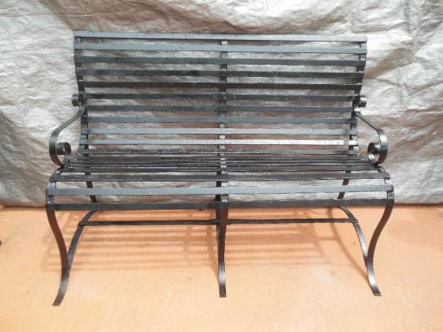 Vintage Strap Work Garden Bench SOLD